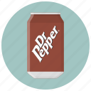 can, can of soda, dr pepper, drink, drinks, soda, tin icon