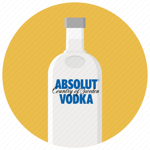 absolut, alcohol, bar, bottle, drink, drinks, vodka icon