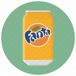 can, can of soda, drink, drinks, fanta, soda, tin icon