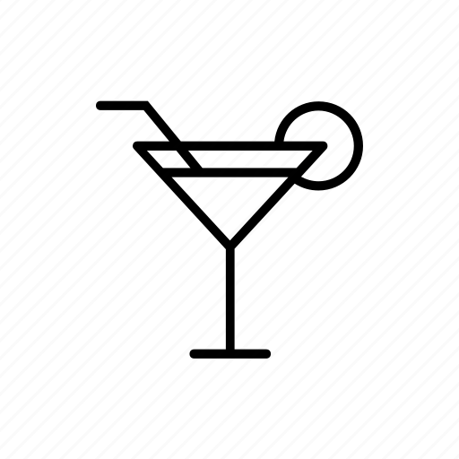 alcohol, bar, beverage, cocktail, glass, lemon, straw icon