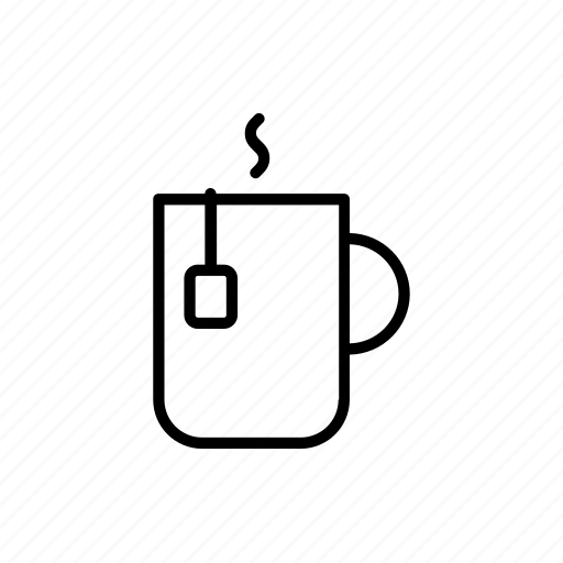 bag, cup, hot, mug, steam, tea, warm icon