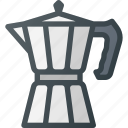 coffe, drink, drinks, italian, maker, retro icon