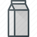 box, drink, milk, drinks icon