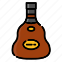 alcohol, beverage, bottle, cognac, drink, water icon