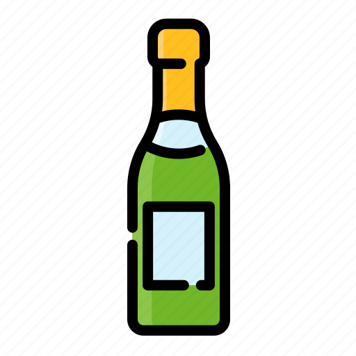 alcohol, beverage, bottle, drink, sparkling wine, water, wine icon