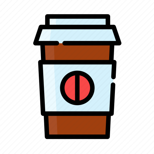 beverage, coffee, drink, glass, water icon