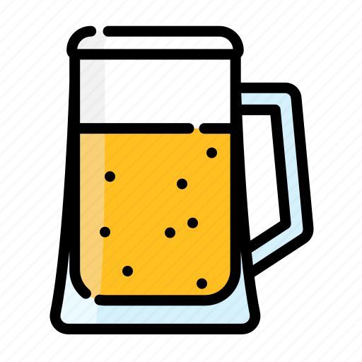 beer, beverage, bottle, drink, glass, water icon