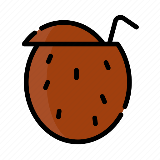 beverage, cocktail, coconut, drink, water icon