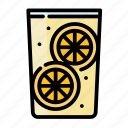 beverage, cocktail, drink, glass, lemon, limonade, water icon