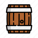 barrel, beer, beverage, drink, water, wine icon