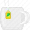 cup, tea, drink, hot, beverage, green icon
