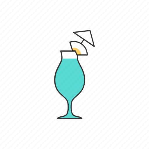 alcohol, cocktail, drink, juice, pina colada, summer, tropical icon