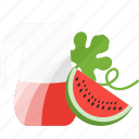 bottle, drinks, juice, watermelone icon