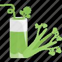 drinks, glass, greenery, tubular icon