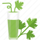 drinks, glass, greenery, juice, tubular