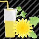 drinks, flower, glass, juice, tubular
