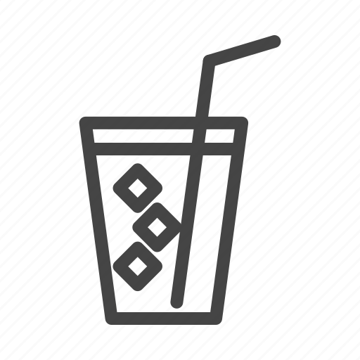 alcohol, cup, drink, glass, ice, tea, water icon