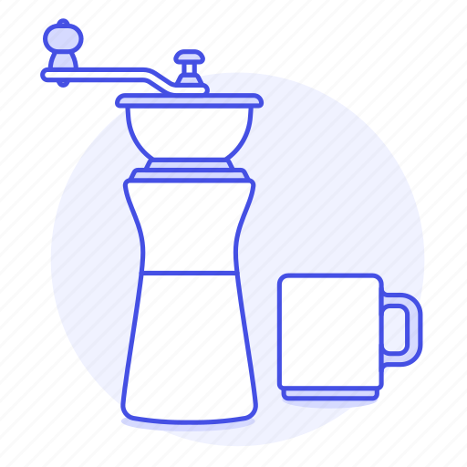 1, bean, coffee, cup, drinks, grinder, mill icon
