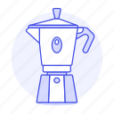coffee, drinks, espresso, maker, moka, pot, stovetop icon