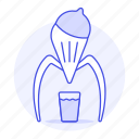 drinks, fruit, glass, juice, juicer, modern, orange icon