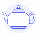 1, appliance, drinks, kettle, kitchen, pot, red, tea, teakettle icon