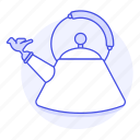 2, appliance, drinks, kettle, kitchen, pot, stovetop, tea, teakettle, whistling icon