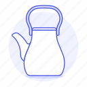 3, appliance, drinks, kettle, kitchen, pink, pot, tea, teakettle icon