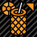 pineapple, juice, drink, organic, drinking