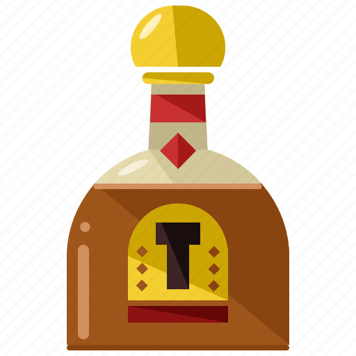 alcohol, beverage, bottle, brandy, cognac, drink, glass icon