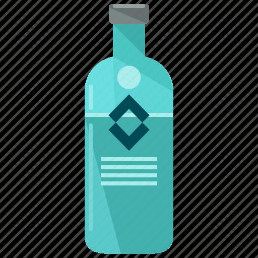 alcohol, beverage, bottle, drink, liquor, vodka icon
