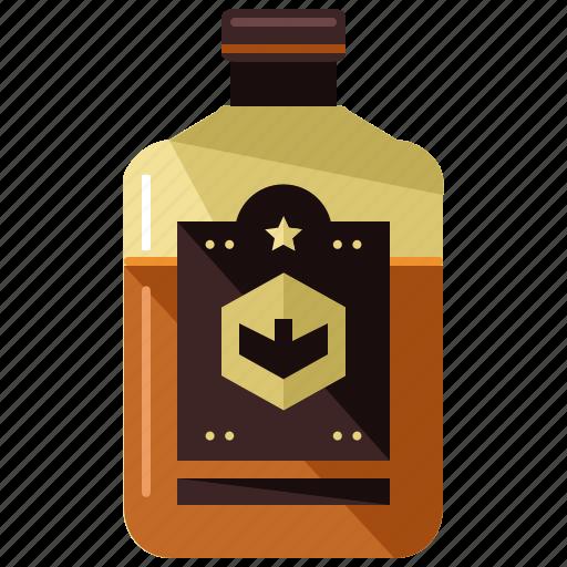alcohol, beverage, bottle, drink, whiskey, whisky icon