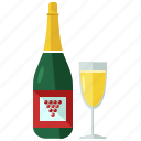 wine, alcohol, beverage, bottle, champagne, drink, glass icon