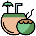 bottle, cocktail, coconut, drink, food, healthy, hydratation, restaurant, water icon