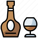 bottle, cognac, drink, food, healthy, hydratation, restaurant, water icon