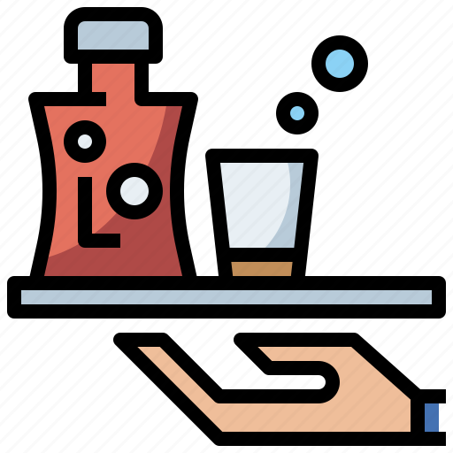bottle, drink, food, healthy, hydratation, liqueur, restaurant, water icon
