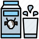bottle, drink, food, healthy, hydratation, milk, restaurant, water icon
