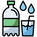 bottle, drink, food, healthy, hydratation, mineral, restaurant, water icon