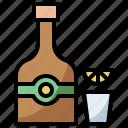 bottle, drink, food, healthy, hydratation, restaurant, tequila, water icon