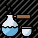 chocolate, coffee, cup, drink, food, hot, mug, restaurant, tea, turkish icon