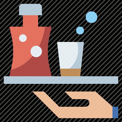 bottle, drink, food, healthy, hydratation, liqueur, restaurant, water icon