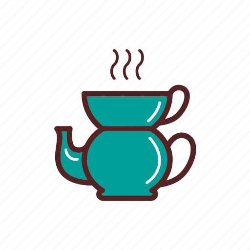 cup, drinks, hot, tea, teapot icon
