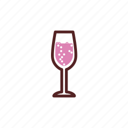 bubbles, champagne, drinks, glass, sparkling wine icon