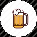 beer, drinks, foam, glass, mug