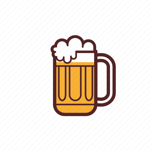 beer, drinks, foam, glass, mug icon