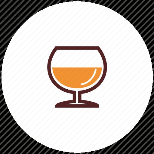 alcohol, brandy, cognac, drinks, glass icon