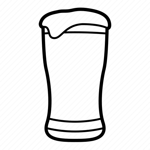 alcohol, beer, beer glass, beverage, cold beer, foaming beer, pint glass icon