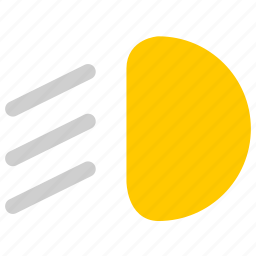 dipped headlight, low beam, vehicle icon