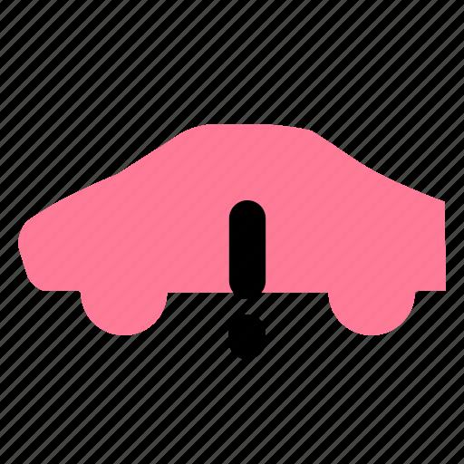 car, vehicle, warning icon