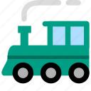 locomotive, rail, railroad, tourism, train, tram, travel, vehicle icon
