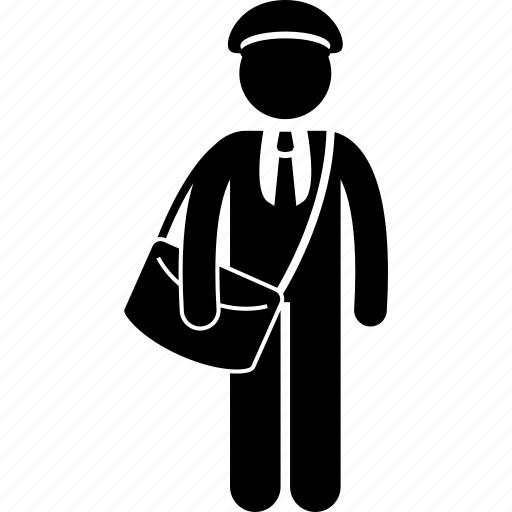 Attire, uniform, mailman, postman, man icon - Download